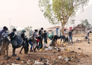 Hobeei Trash Challenge: Students Clear Waste Dump Site Beside Yola International Airport